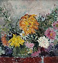 Натюрморт с пъстри цветя / Still Life with Bright Flowers
