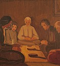 На трапезата (семейството на художника) / Dinner (The Artist's Family)