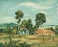 Пейзаж (къщи сред дървета) / Landscape