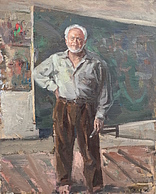 Стоян Венев в ателието / The artist Stoyan Venev in his studio