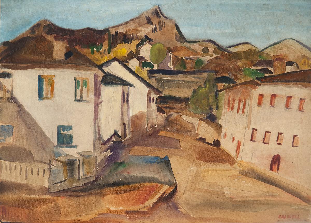 Елиезер Алшех | Селски пейзаж с бели къщи